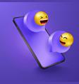 chatting on phone social media communication vector image
