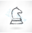 chess knight grunge icon vector image vector image