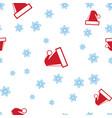 christmas hats santa and snowflake seamless vector image