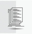 code coding compile files list line icon on vector image