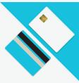 credit card mockup blank template vector image