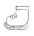 cute sketch draw ice skate vector image
