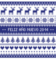 Feliz Ano Nuevo 2014 - spanish happy year pattern vector image