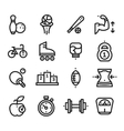 Fitness and Health sport icons White Background vector image vector image