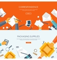 Flat backgrounds set vector image vector image