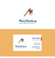 flat bloody axe logo and visiting card template vector image