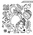 funny hand drawn outlined mouse or rat vector image vector image