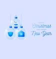 glass christmas coronavirus ball banner christmas vector image vector image