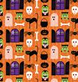 halloween monsters vector image