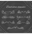 Hand drawn divders set Chalk dividers on vector image