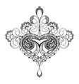 hand drawn ornate flower pattern in vector image vector image