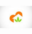 home green leaf business logo vector image vector image