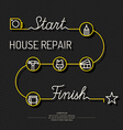 House repair poster vector image vector image