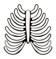 Human rib cage icon icon cartoon