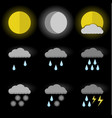 image of set of weather icons sun moon and sun vector image