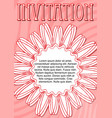 invitation template in pink and red design with vector image vector image
