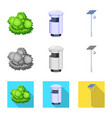 isolated object urban and street symbol set of vector image