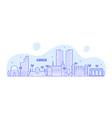 karachi skyline pakistan city linear art vector image vector image