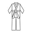 karate belt wear vector image