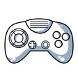 line videogame controller with buttons to play in vector image vector image