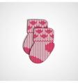 little knitting socks icon Children theme vector image vector image