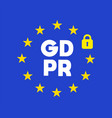 logo general data protection regulation banner vector image vector image