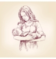 madonna mary holding baby jesus vector image