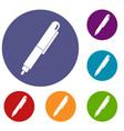 Marker pen icons set