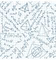 Maths seamless pattern vector image