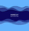 modern paper cut art design template with waves vector image vector image