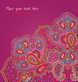 paisley ornament pink vector image vector image