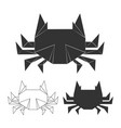 paper japanese crabs vector image
