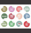 paper sale colorful stickers collection vector image vector image