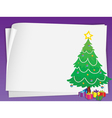 paper sheets and christmas tree vector image vector image
