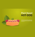 plant based beyond meat hot dog healthy lifestyle vector image