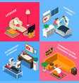 pregnant woman isometric concept vector image vector image