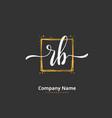 R b rb initial handwriting and signature logo