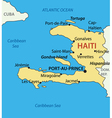 Republic of Haiti - map vector image