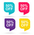 sale discount sticker 50 vector image vector image