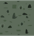 scandinavian style seamless pattern with stones vector image vector image
