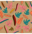 Seamless texture with pastel colors leaves vector image vector image