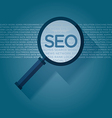 SEO search engine optimization magnifying glass vector image vector image