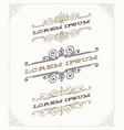 set elegant vintage ornamental emblems vector image