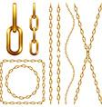 Set of golden chain vector image