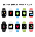 set smart watches icons vector image vector image