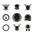 Shields Crowns and Emblems vector image vector image