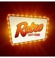 shining retro light banner