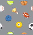 sport ball pattern seamless background vector image