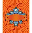 star banner orange vector image vector image