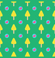 summer seamless ice cream pattern with hearts on vector image vector image